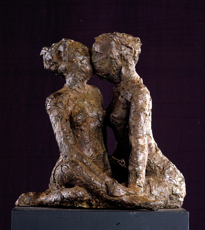 bronze sculpture_Recognizing_Her_Touch
